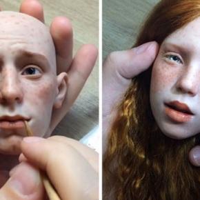 Artista ruso crea rostros de muñecas realistas que ponen la piel degallina
