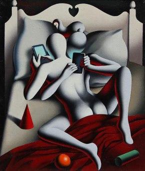 Ilustraciones satíricas sobre la adicción a las redessociales