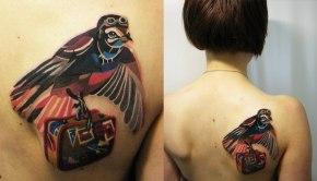 Los asombrosos y coloridos tatuajes de SashaUnisex