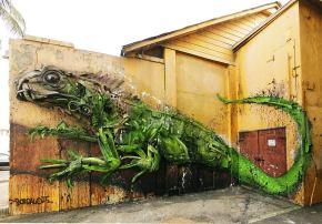 Basura y naturaleza en asombrosas esculturasrecicladas